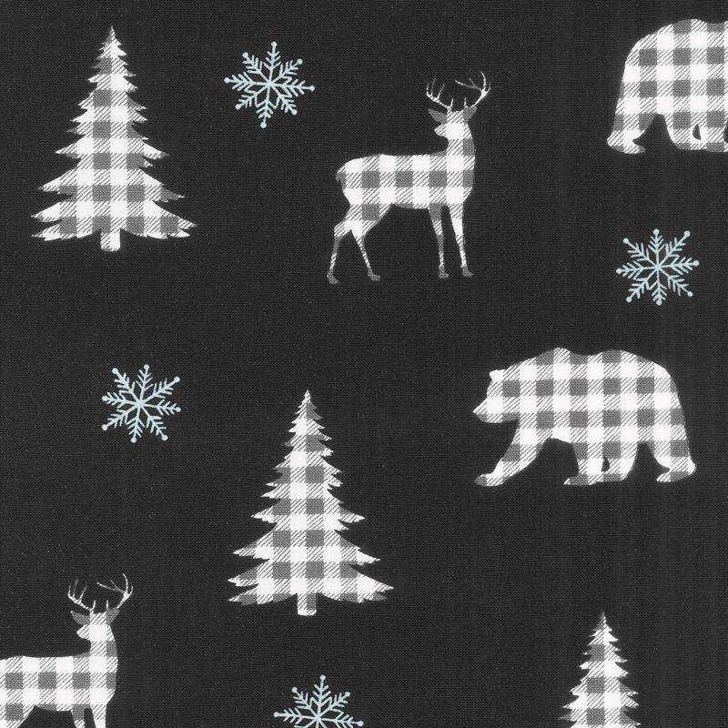 Holiday Lodge - Buffalo Plaid Forest Charcoal Yardage