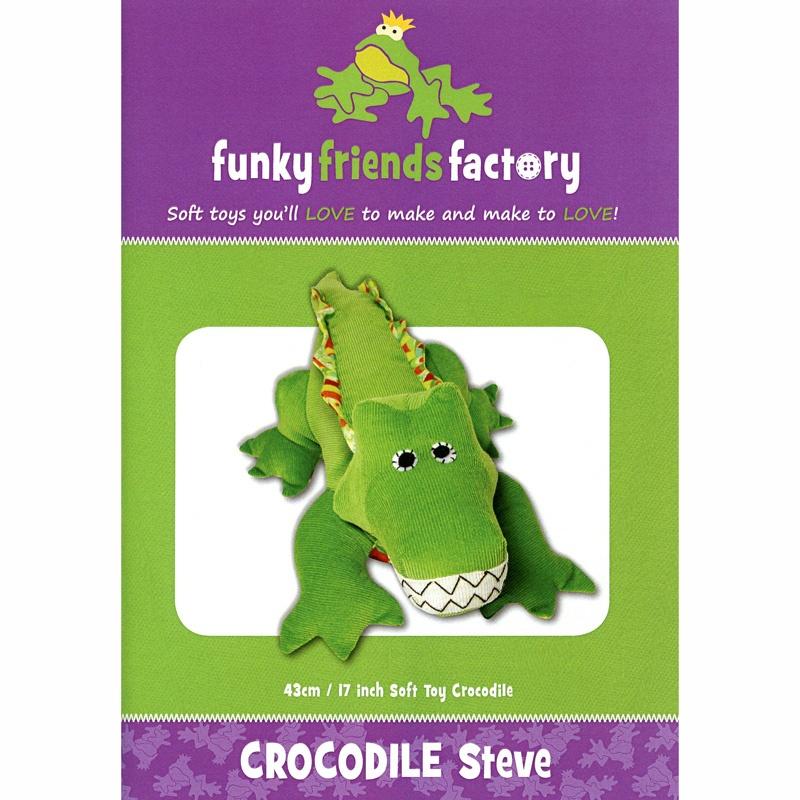 Crocodile Steve Funky Friends Factory Pattern