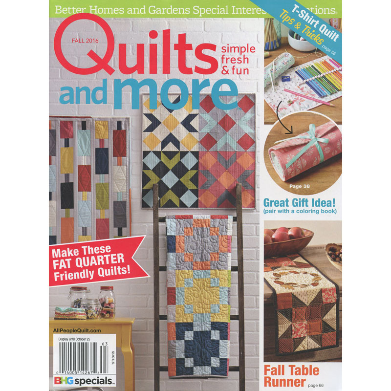 Better Homes and Gardens Quilts and More Fall 2016 - Meredith ... : better homes and gardens quilting - Adamdwight.com