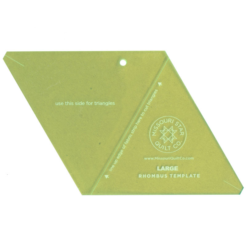 Missouri Star Large Rhombus Template Missouri Star Quilt Co