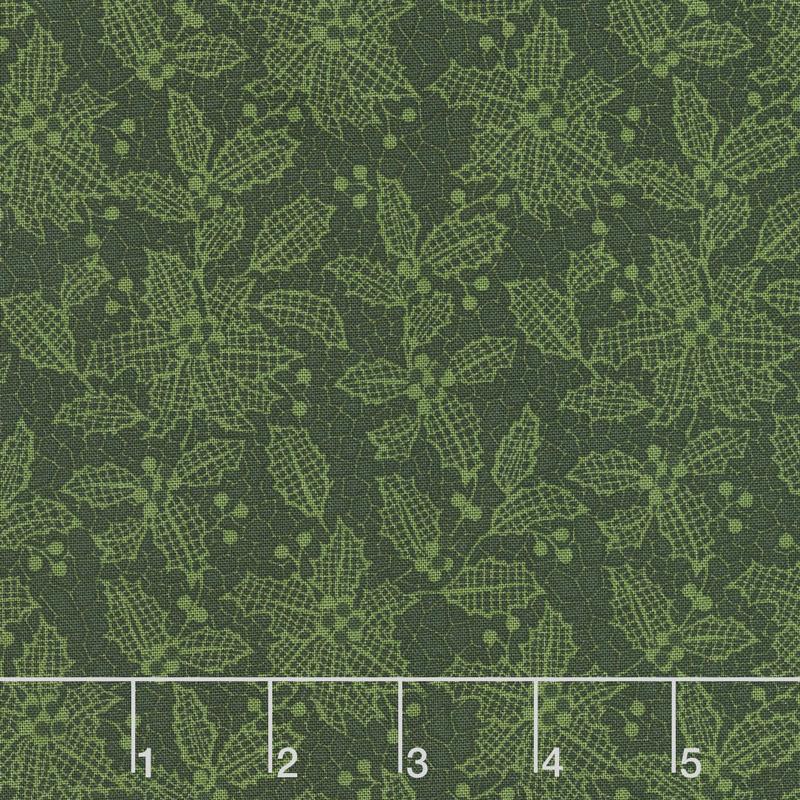 Let It Sparkle - Holiday Lace Evergreen Yardage