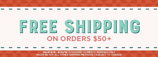 Free Shipping at 50