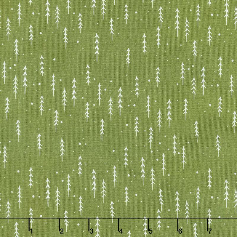 Merriment - Winter Trees Holly Yardage