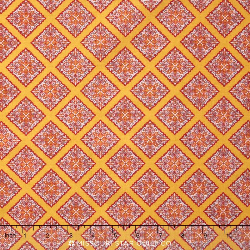 Primavera - Primavera Scrolls Tangerine Yardage