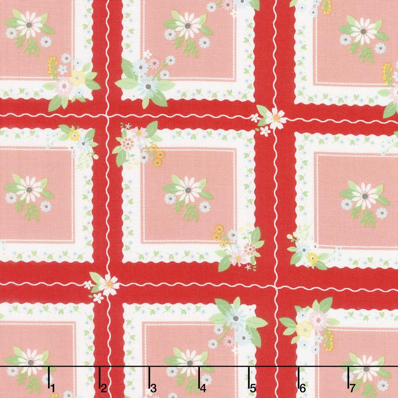 Vintage Keepsakes - Handkerchief Red Yardage