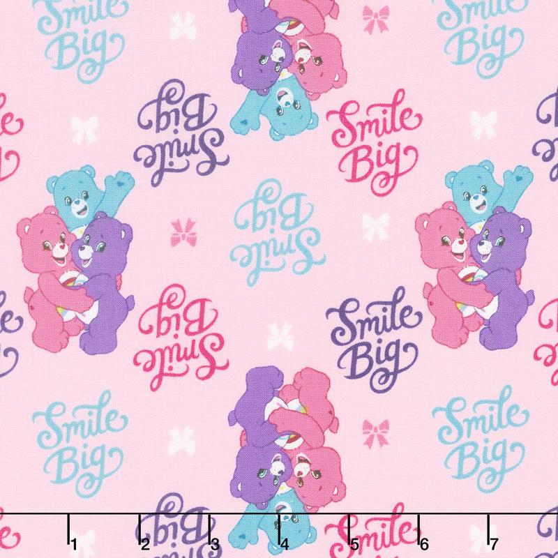 Care Bears - Sparkle & Shine Smiles in Pink Yardage