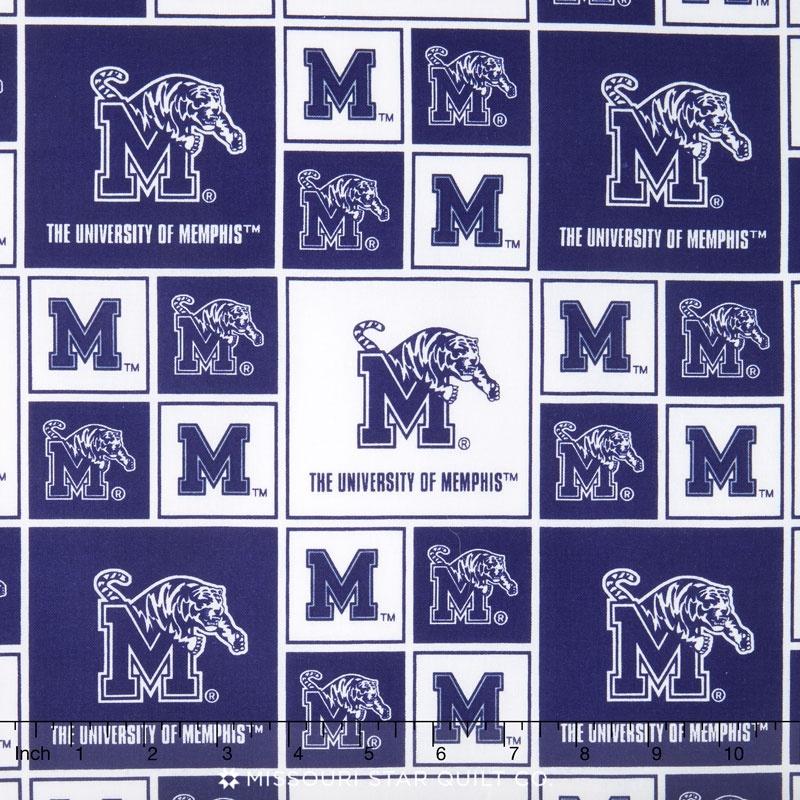 College - University of Memphis Allover Yardage