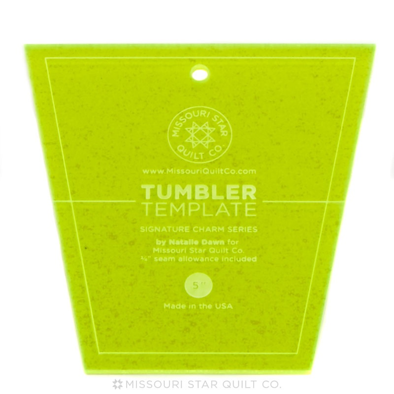 small tumbler template for 5 charm packs msqc missouri star