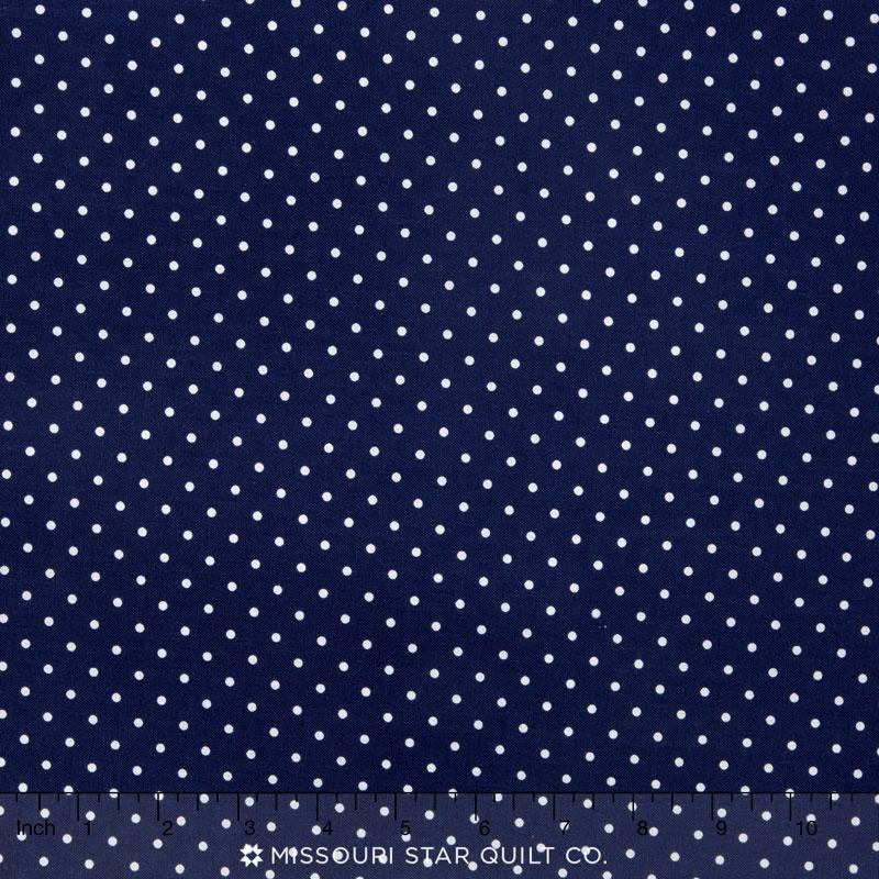 Happy Dots - Pinhead Navy Yardage
