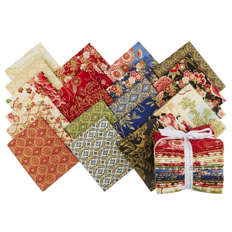 Imperial Collection 15 - Spring Metallic Fat Quarter Bundle