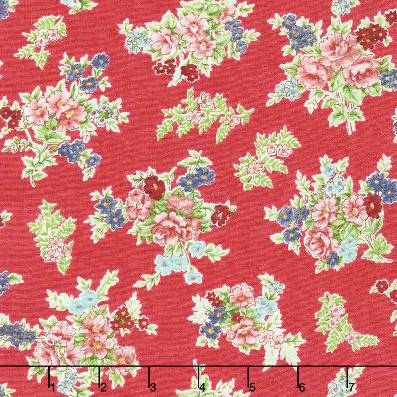 Katie Jane - Bouquet Red Yardage