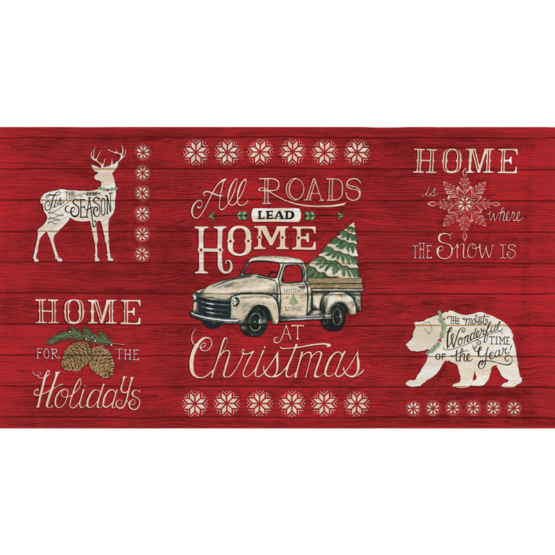 Holiday Lodge - Holiday Berry Red Panel