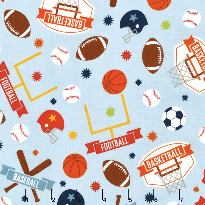 Game Day - Sports Main Aqua Yardage