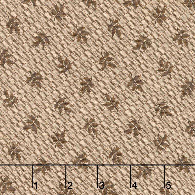 Hickory Road - Leaves Light Brown Yardage