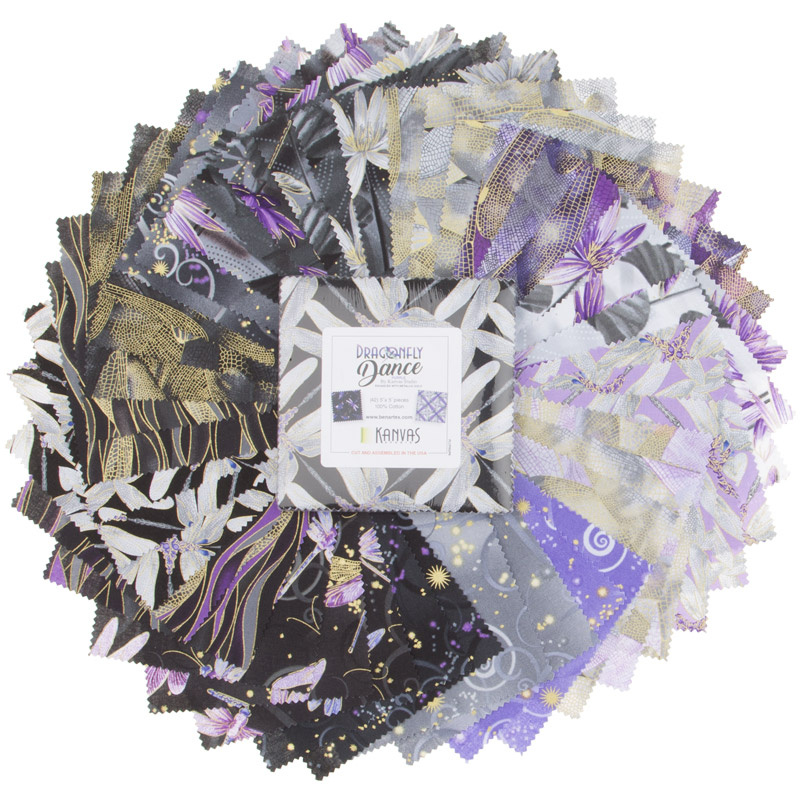 Dragonfly Dance Purple Metallic Charm Pack
