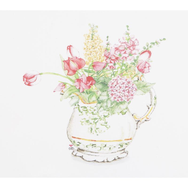 Susan Branch Pitcher of Garden Flowers Digitally Printed Panel