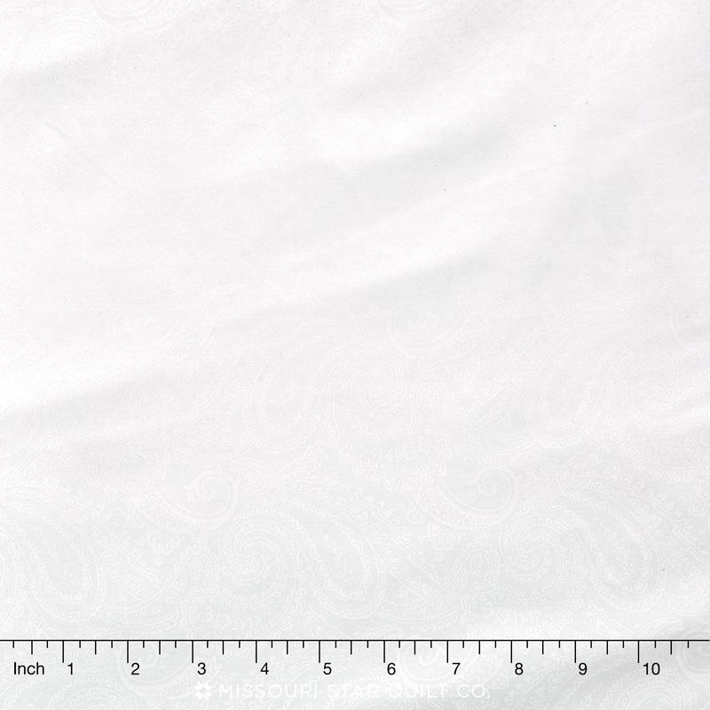 Wilmington Essentials - Paisley White on White 108