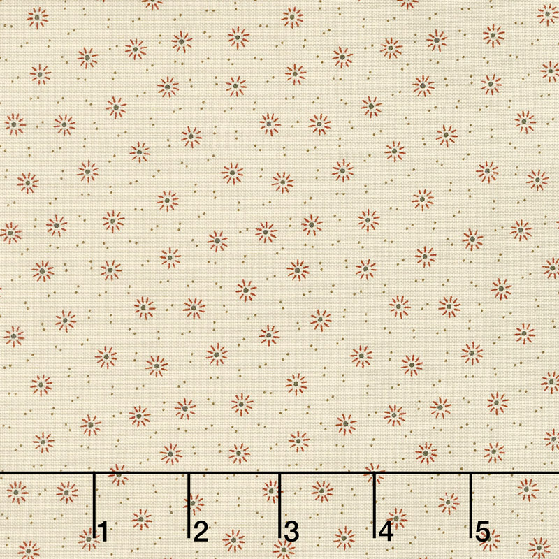 Jo's Shirtings - Starburst Parchment Brick Yardage
