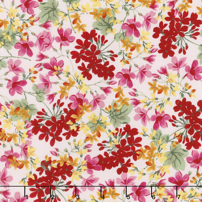 Farmhouse Floral - Floral Pink Yardage