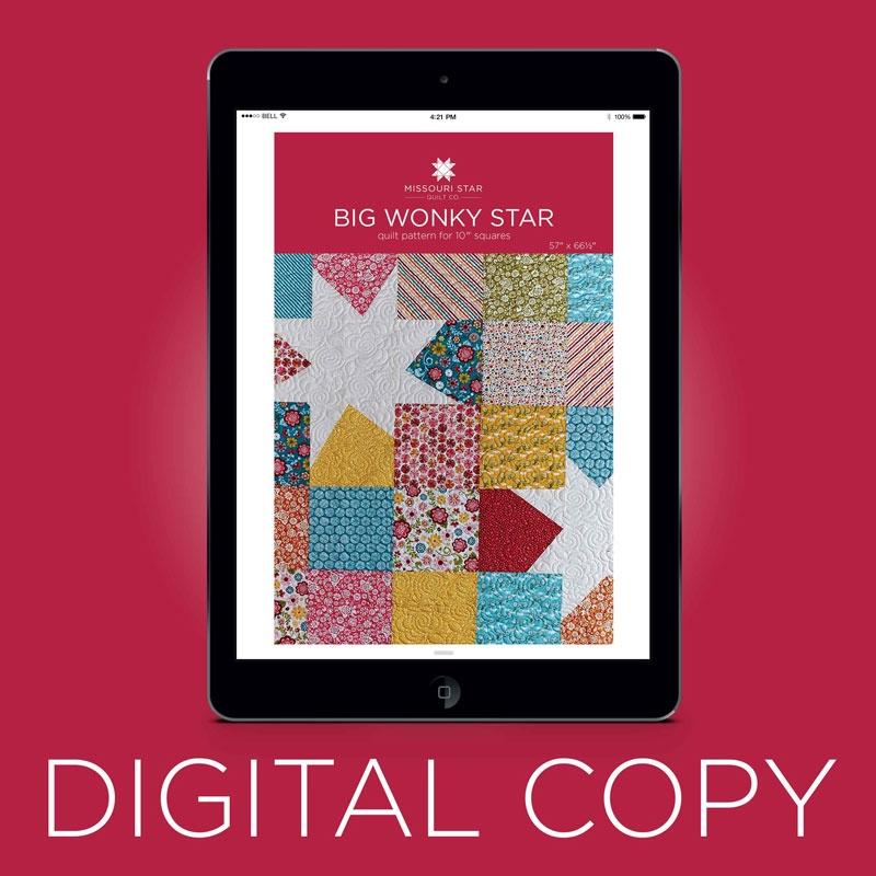 Digital Download Big Wonky Star Quilt Pattern By Missouri Star