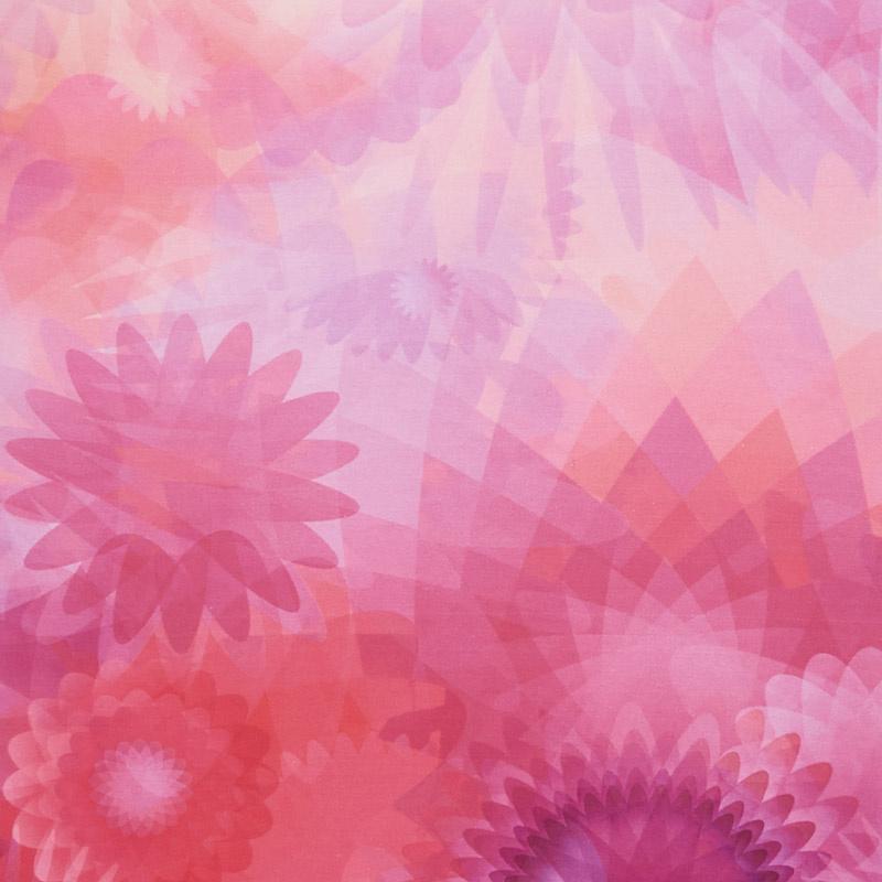Gradients - Blooms Purples & Pinks Digitally Printed Yardage