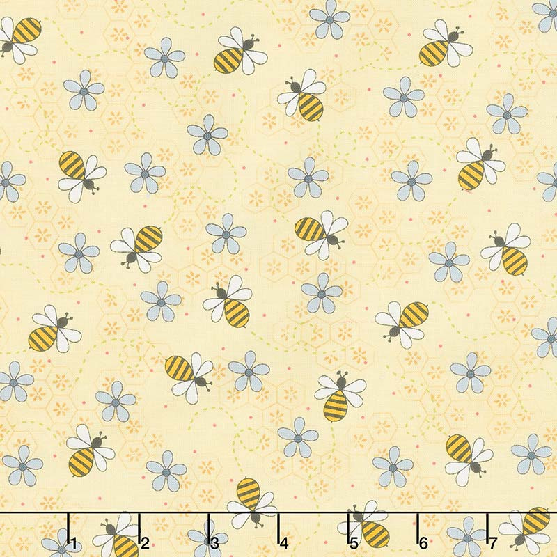 All About the Bees - Bee Trails Yellow Yardage
