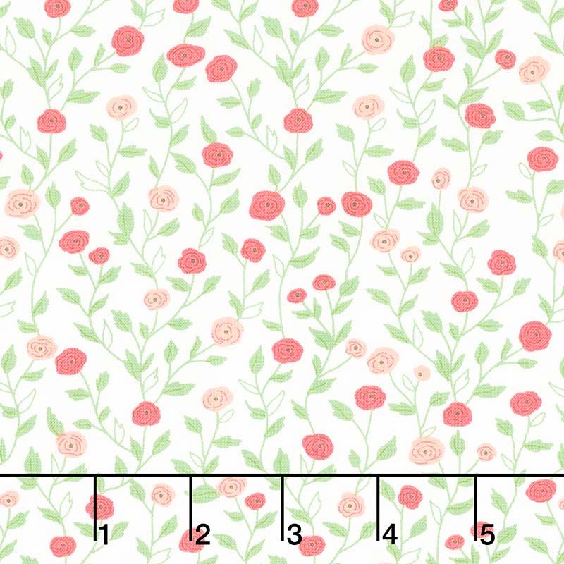 Bloomington - Pocket Full of Posies Eggshell Yardage