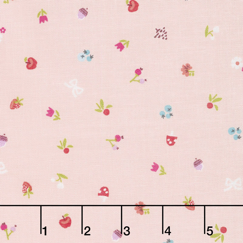 Little Red in the Woods - Bits Pink Yardage