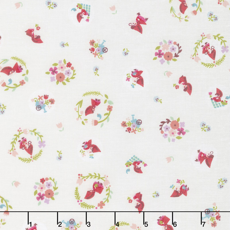 Little Red in the Woods - Toss Cream Yardage