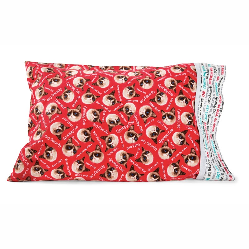 MSQC Grumpy Cat™ Easy Tube Pillowcase Kit - Red Flannel - MSQC ... : missouri quilt company pillowcase tutorial - Adamdwight.com