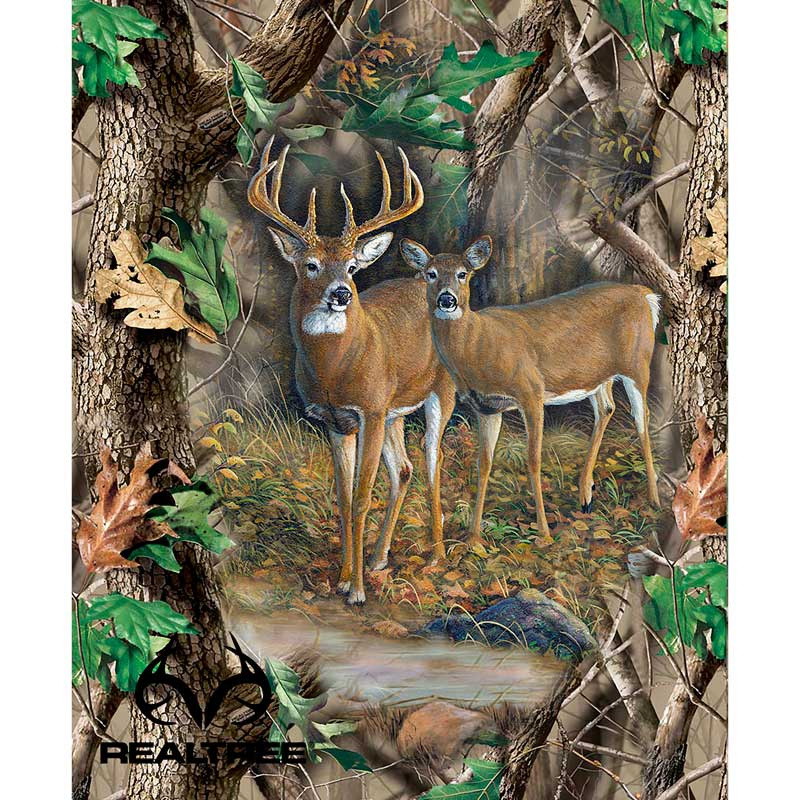 Realtree Deer Quilt Panel Sykel Enterprises Sykel Enterprises