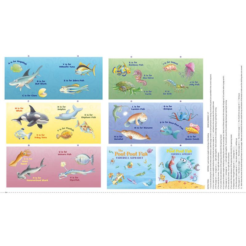 The Pout Pout Fish - Alphabet Book Panel
