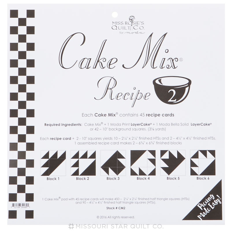 Cake Mix Recipe 2 by Miss Rosies Quilt Co Miss Rosies Quilt Co