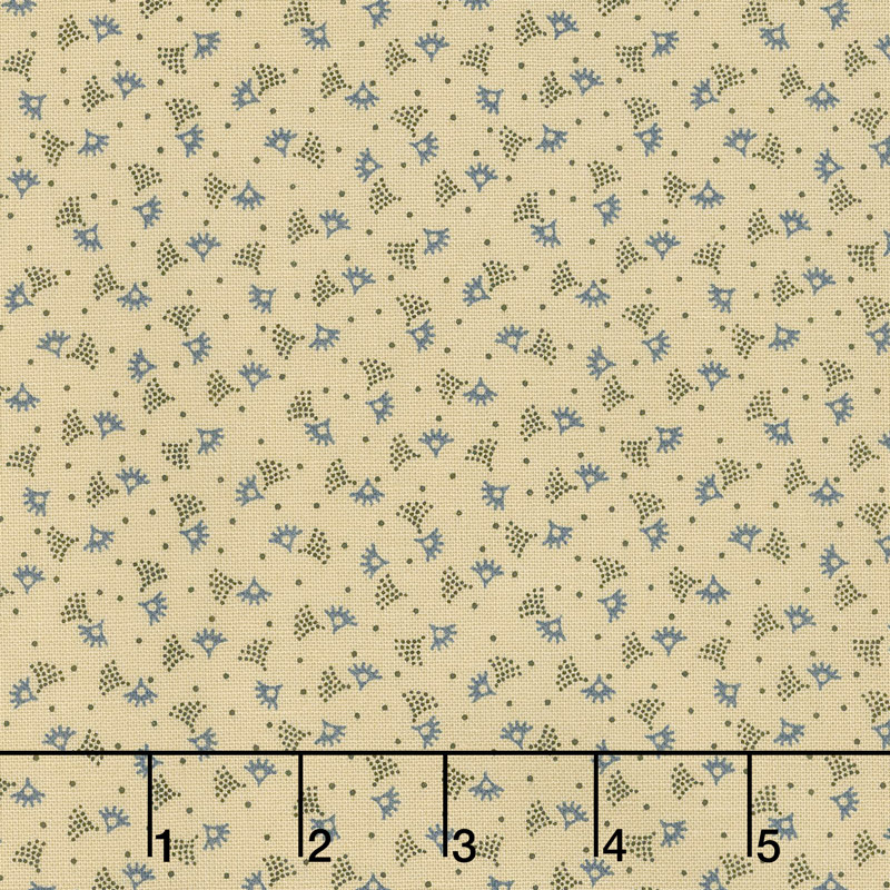 Mrs. Miller's Apprentice - Country Curtains Blue Yardage