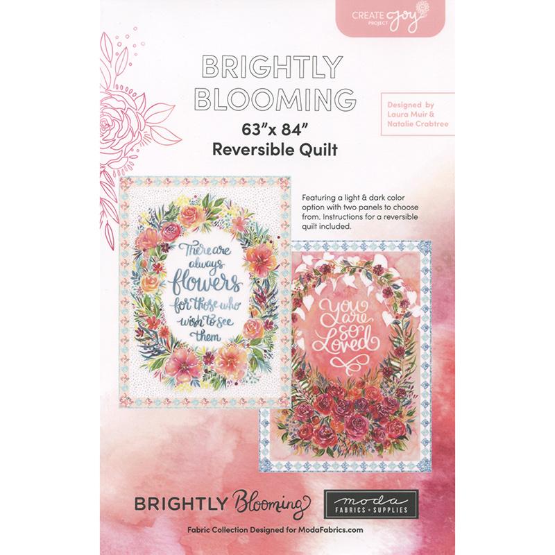 Brightly Blooming Aqua 8432 11D by Laura Muir for Moda Fabrics by the half-yard