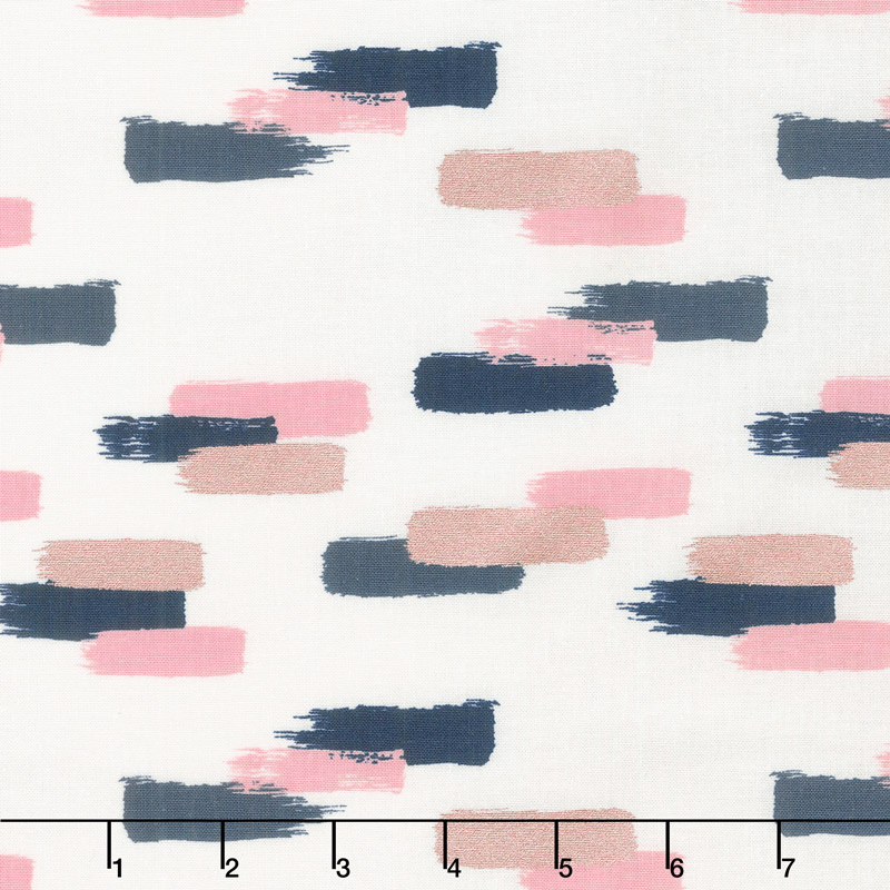 Blush - Strokes Cream Sparkle Yardage