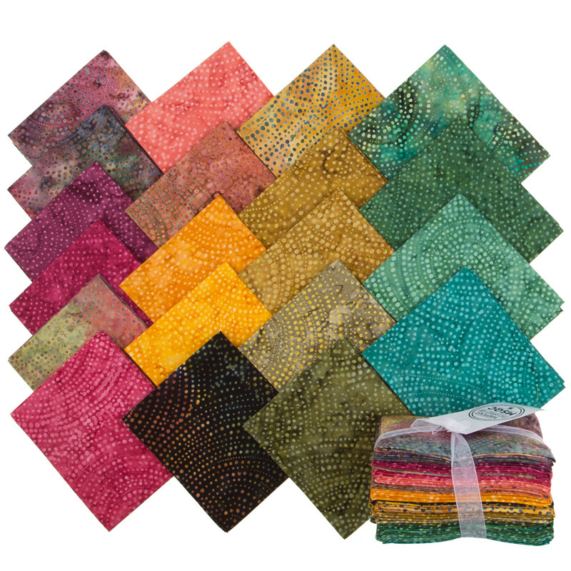 Tonga Treats Batiks - Colorwheel Forest Fat Quarter Bundle