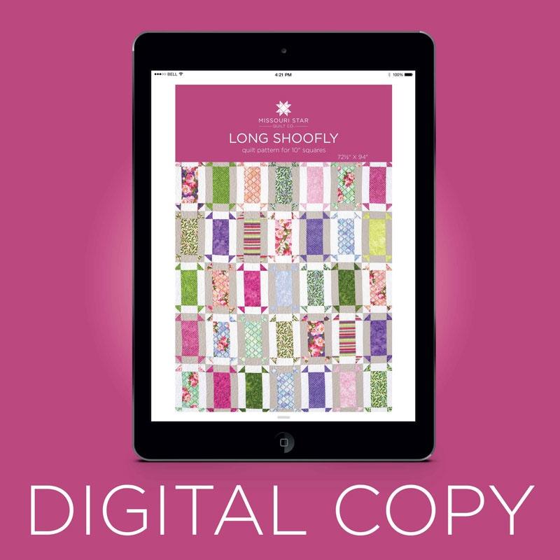 Digital Download Long Shoofly Quilt Pattern By Msqc Missouri