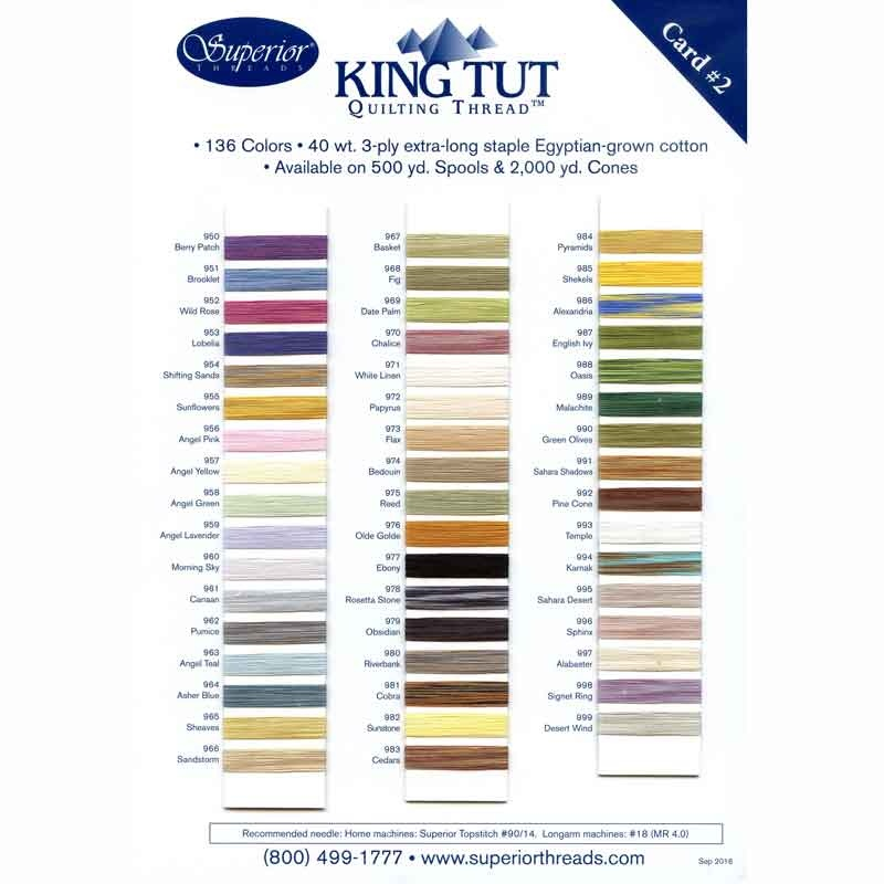 2000 yd Superior Threads 121029XX950 Berry Patch 3-Ply 40W King TUT Cotton Quilting Thread