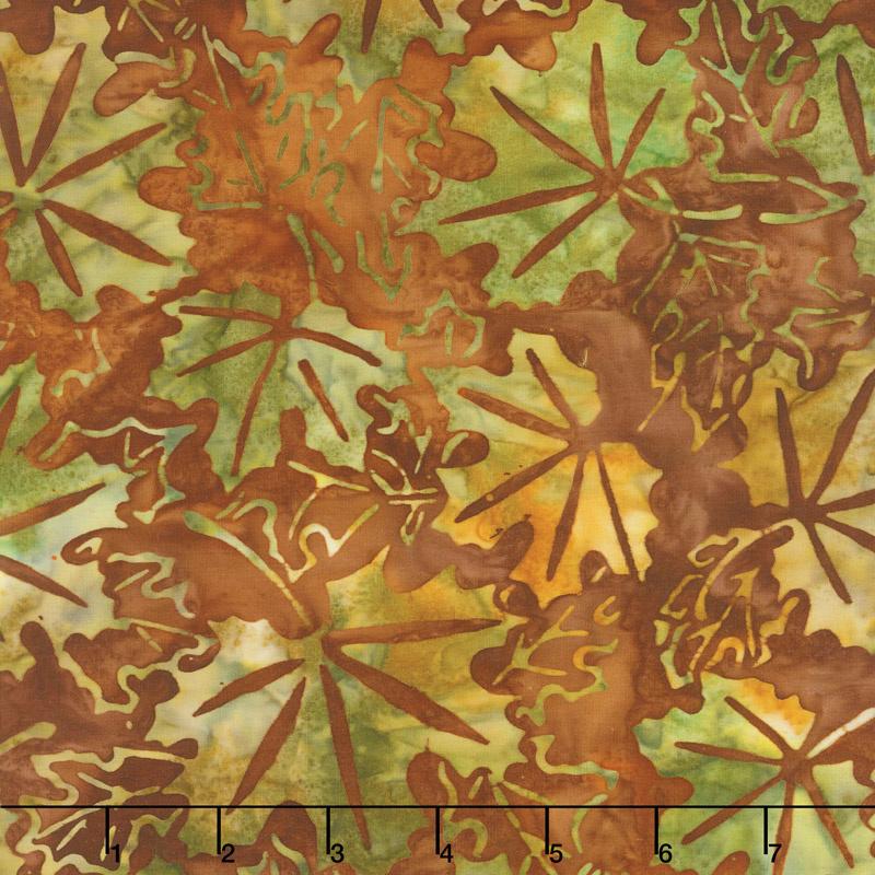 Artisan Batiks - Cornucopia 9 Maple Leaves Rust Yardage