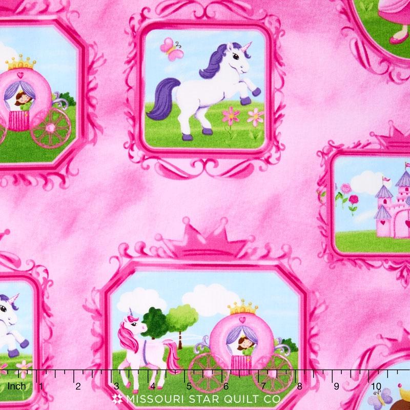 Little Princess - Frames Pink Multi Yardage - Deborah Edwards ...