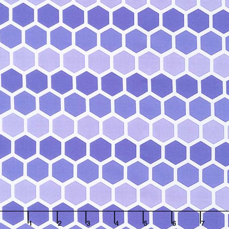 Confetti - Honeycomb Purple Yardage