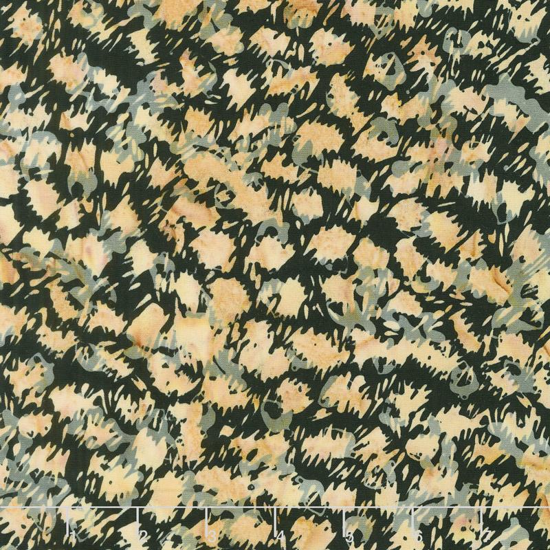 Wild Things Batiks - Cheetah Licorice Yardage