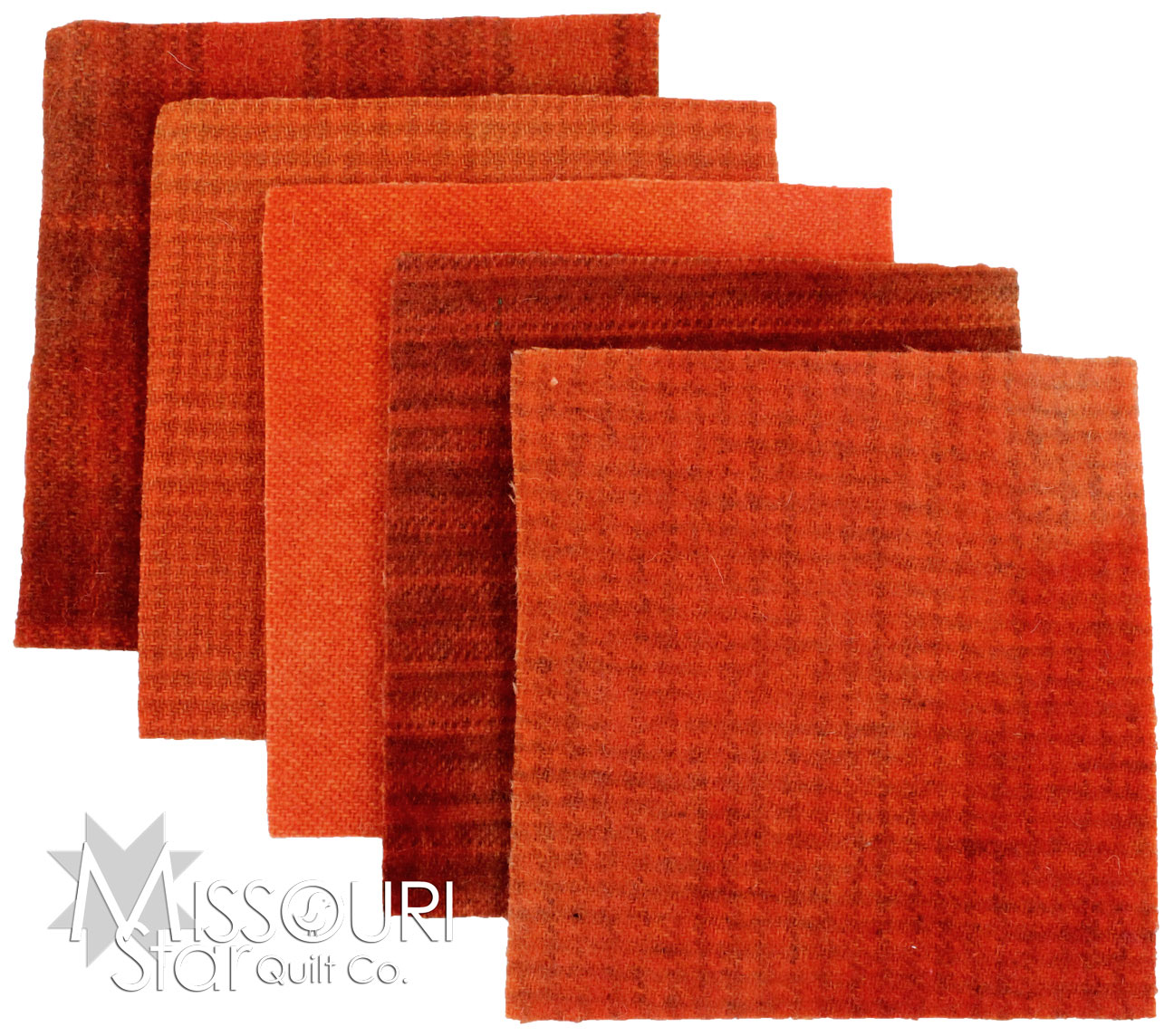 Deep Persimmon Wool Charm Pack