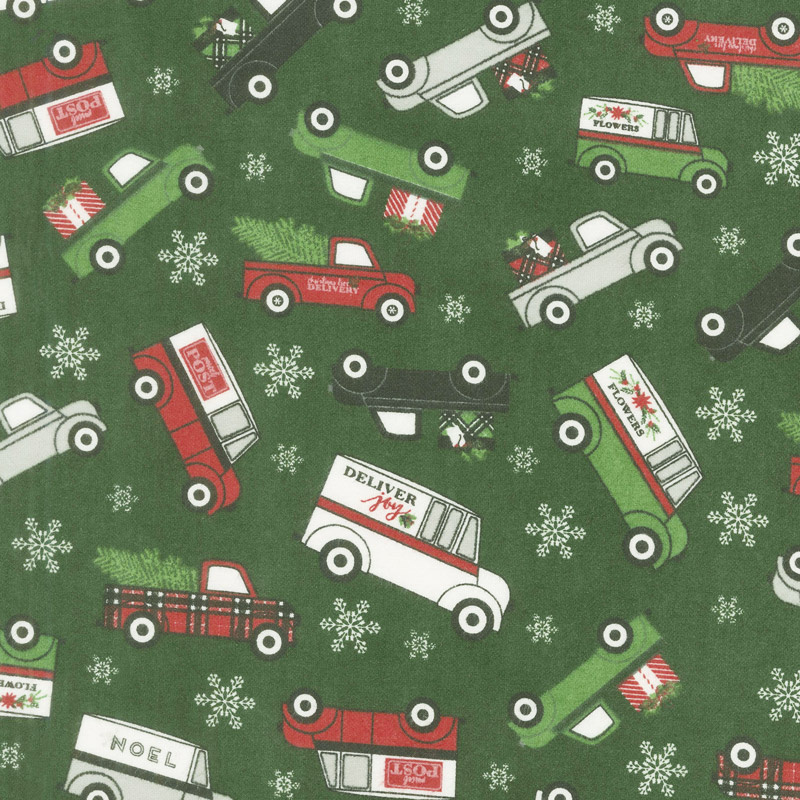 Designer Flannel - Christmas Main Green Yardage
