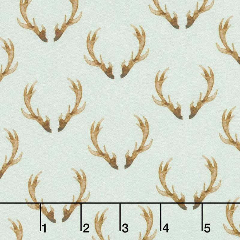 Winter Woods - Antlers in Gray Yardage