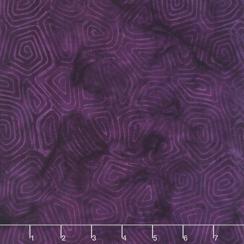 Neptune's Friends Batiks - Turtle Shell Raisin Yardage