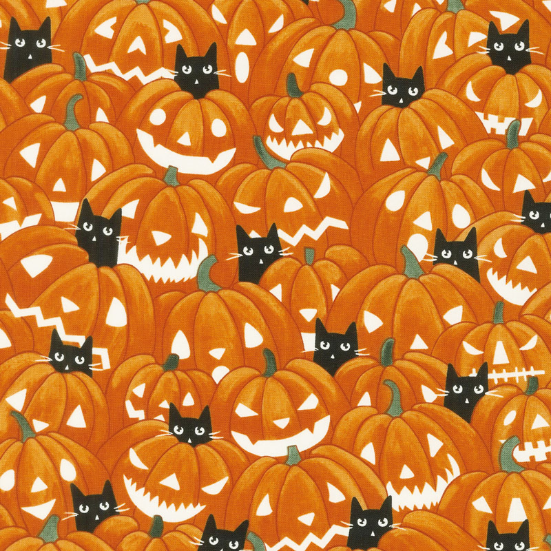 So Adora-Boo! - Pumpkins Orange Glow in the Dark Yardage