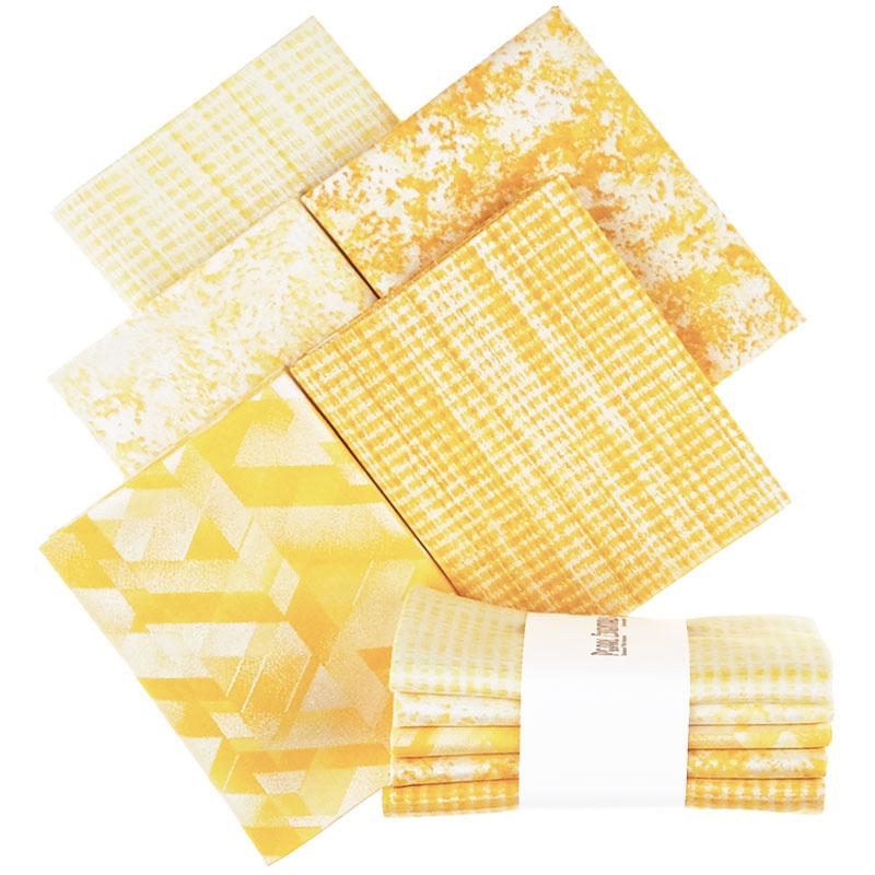 Pearl Essentials - Yellow Pearlized Fat Quarter Bundle
