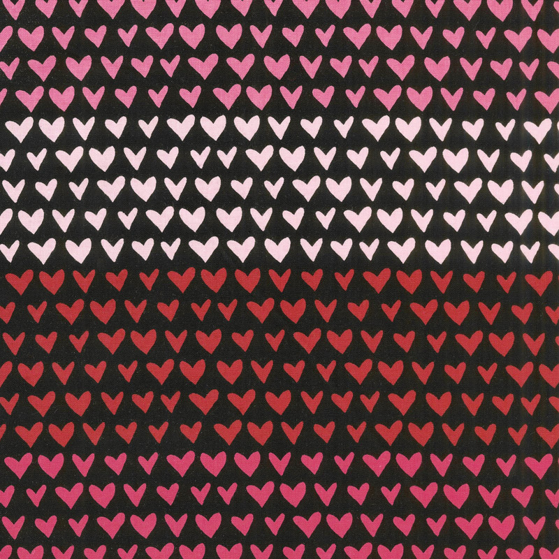 Hello Sweetheart - Gradient Black Yardage